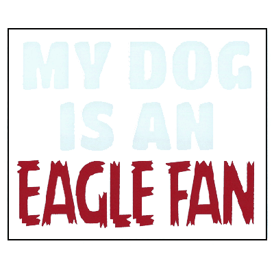 Image For DOG EAGLE FAN DECAL