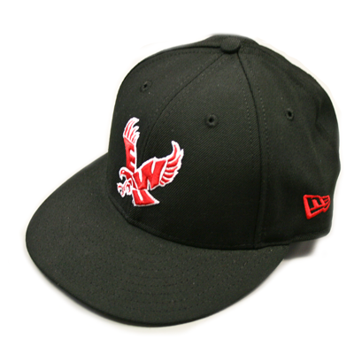 Image For FLYING EAGLE RED ON BLACK 5950 HAT
