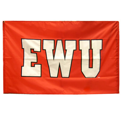 Image For EWU BOLD LETTERS FLAG