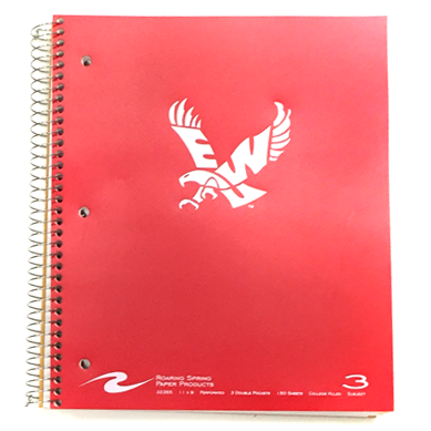 Image For FLYING EAGLE LOGO 3 SUBJECT NOTEBOOK RED