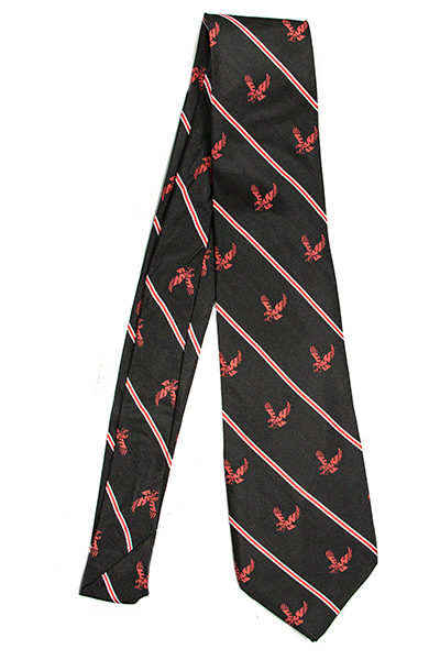 Image For FLYING EAGLE STRIPED SILK NECK TIE
