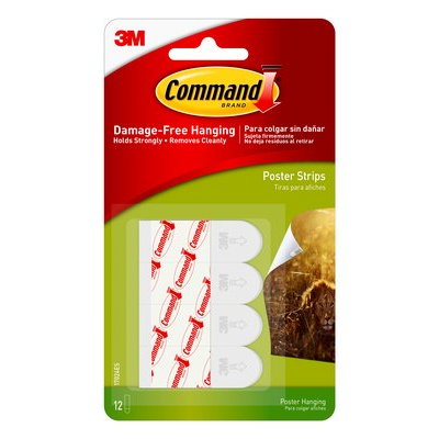 Image For COMMAND POSTER HANGING STRIPS