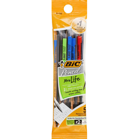 Image For BIC PENCIL 7MM 5PK