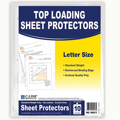 Image For C-LINE SHEET PROTECTORS 10 CT