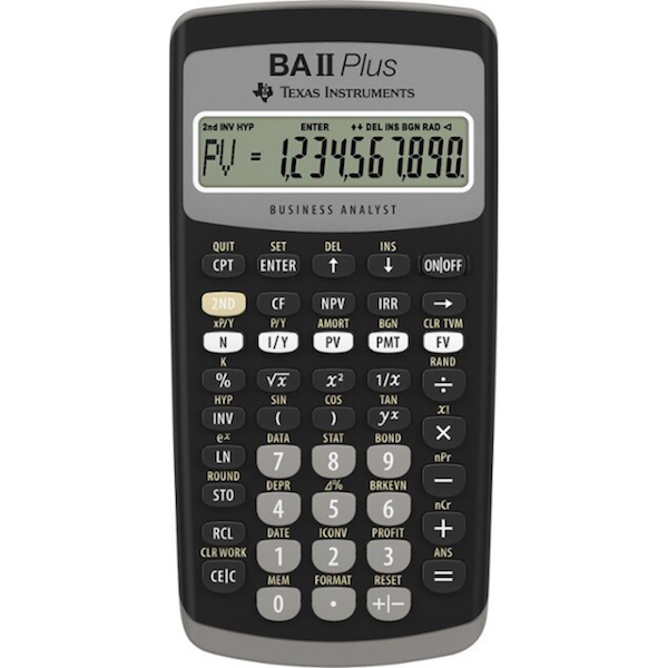 Image For CALCULATOR- TI BAII PLUS FINANCIAL