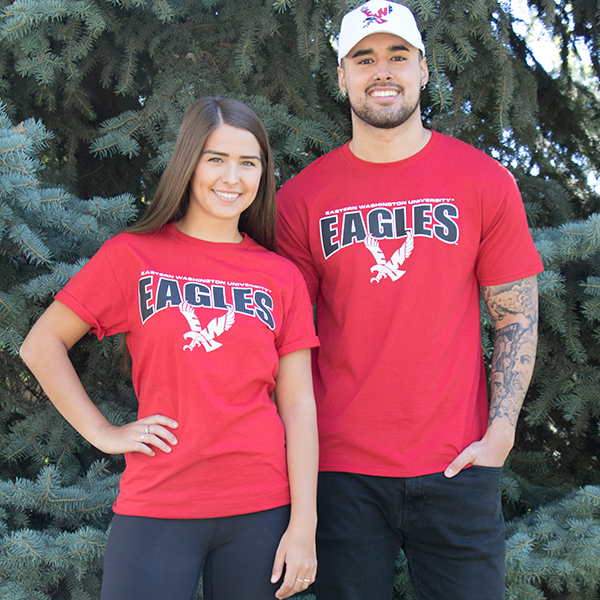 Image For EASTERN WASHINGTON LOGO TEE