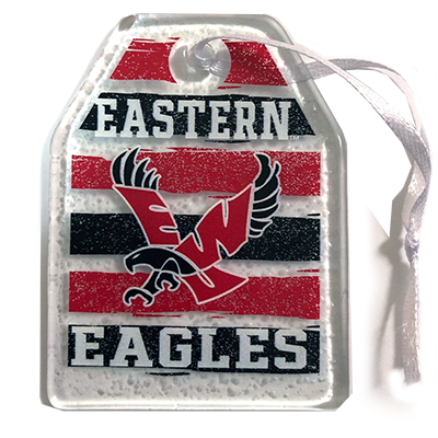 Image For EAGLES GLASS ORNAMENT