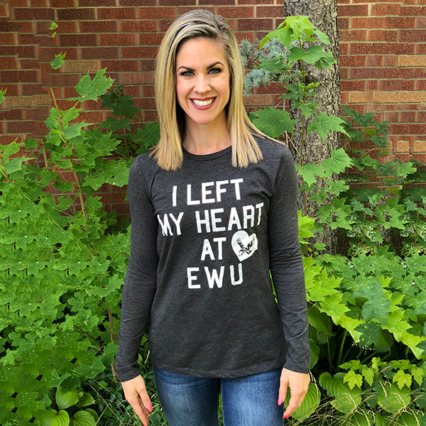 Image For MY HEART AT EWU LONG SLEEVE T-SHIRT