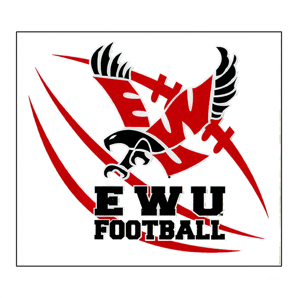 Image For EWU FOOTBALL LACES DECAL
