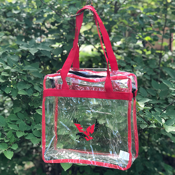 Image For CLEAR TOTE W/ZIPPER
