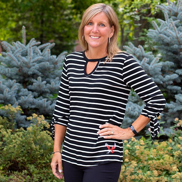 Image For STRIPED TIE-SLV TUNIC
