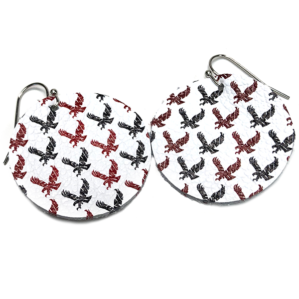 Image For FLYING EAGLE LEATHER EARRING