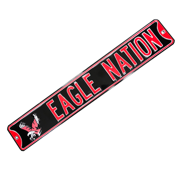 Image For EAGLE NATION METAL SIGN