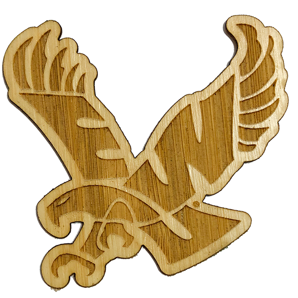 Image For EAGLE WOOD DECAL