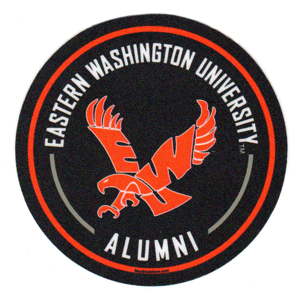Image For EWU ALUMNI ROUND STICKER