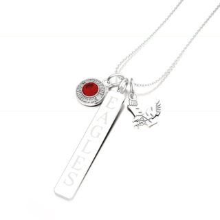 Image For SARAH CHLOE 3 CHARM LAYERED NECKLACE